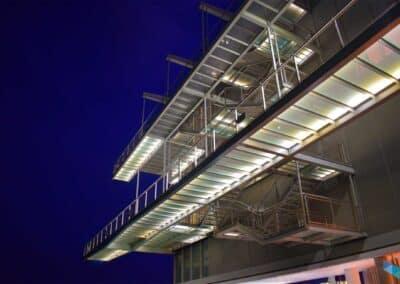 Centro Botín escaleras noche
