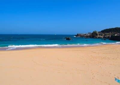 Panorámica de la Playa del Camello en Santander