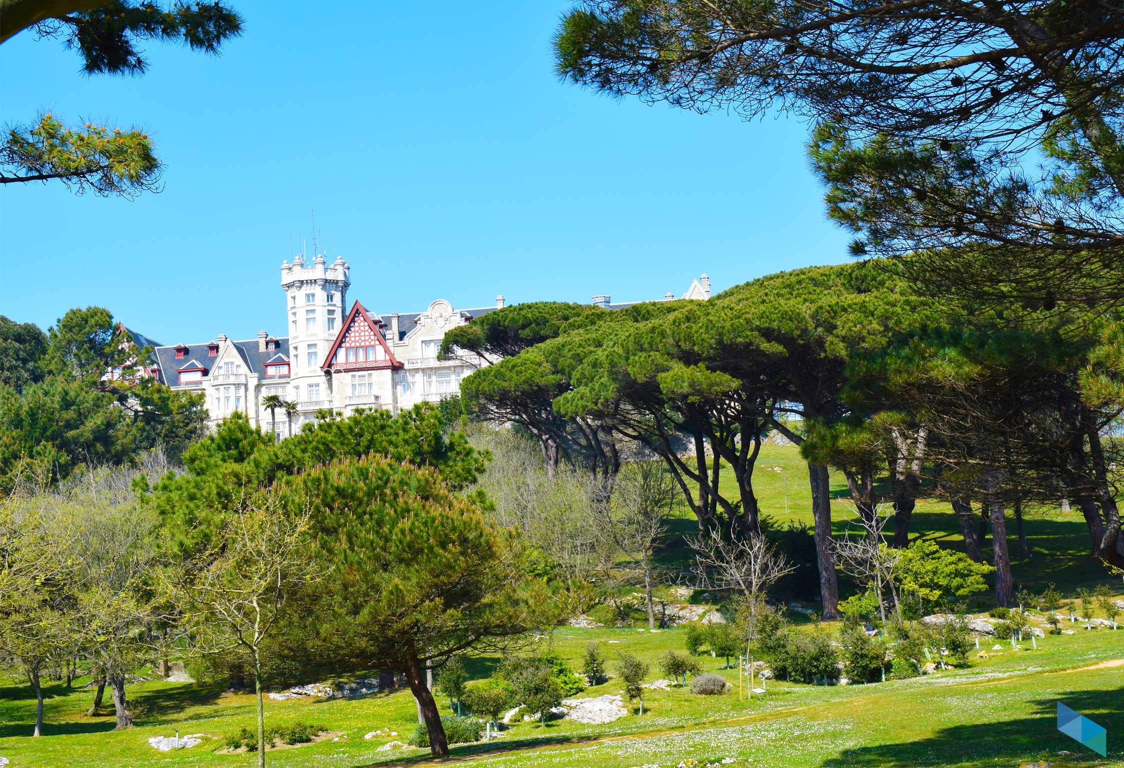 Península de la Magdalena vistas al palacio