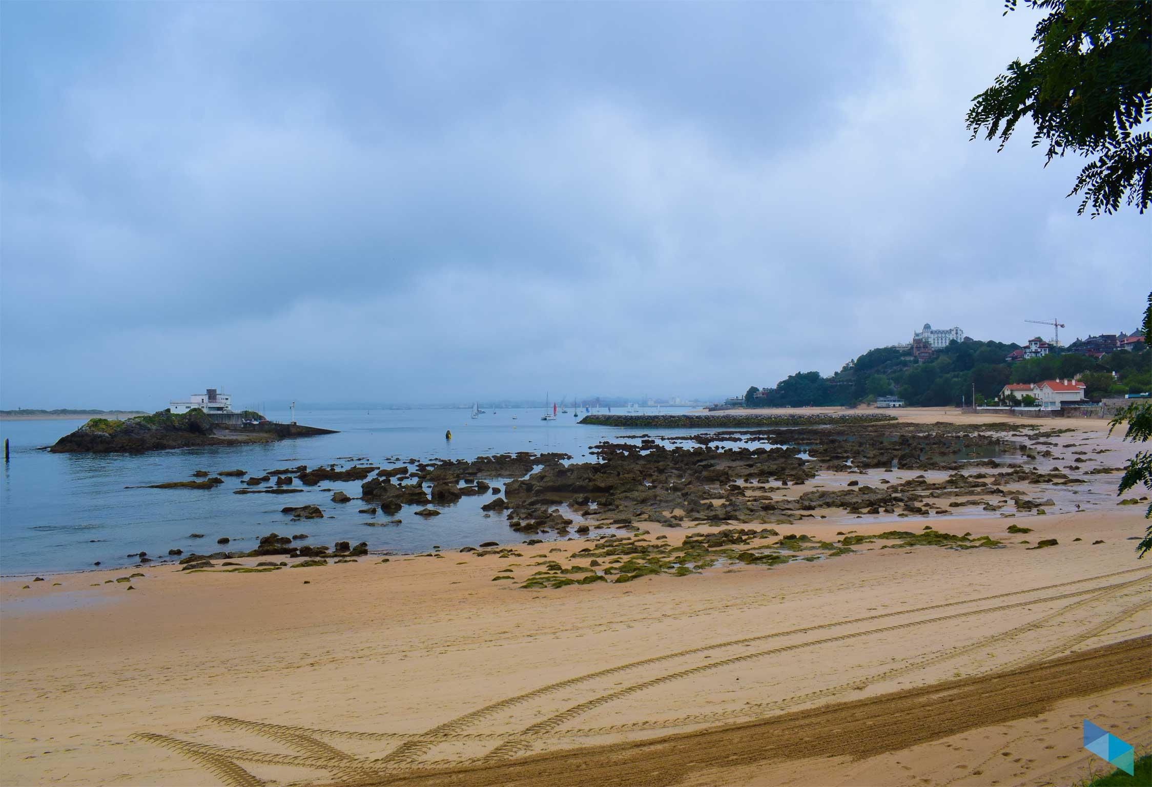 Playa de la Magdalena hacia el mar