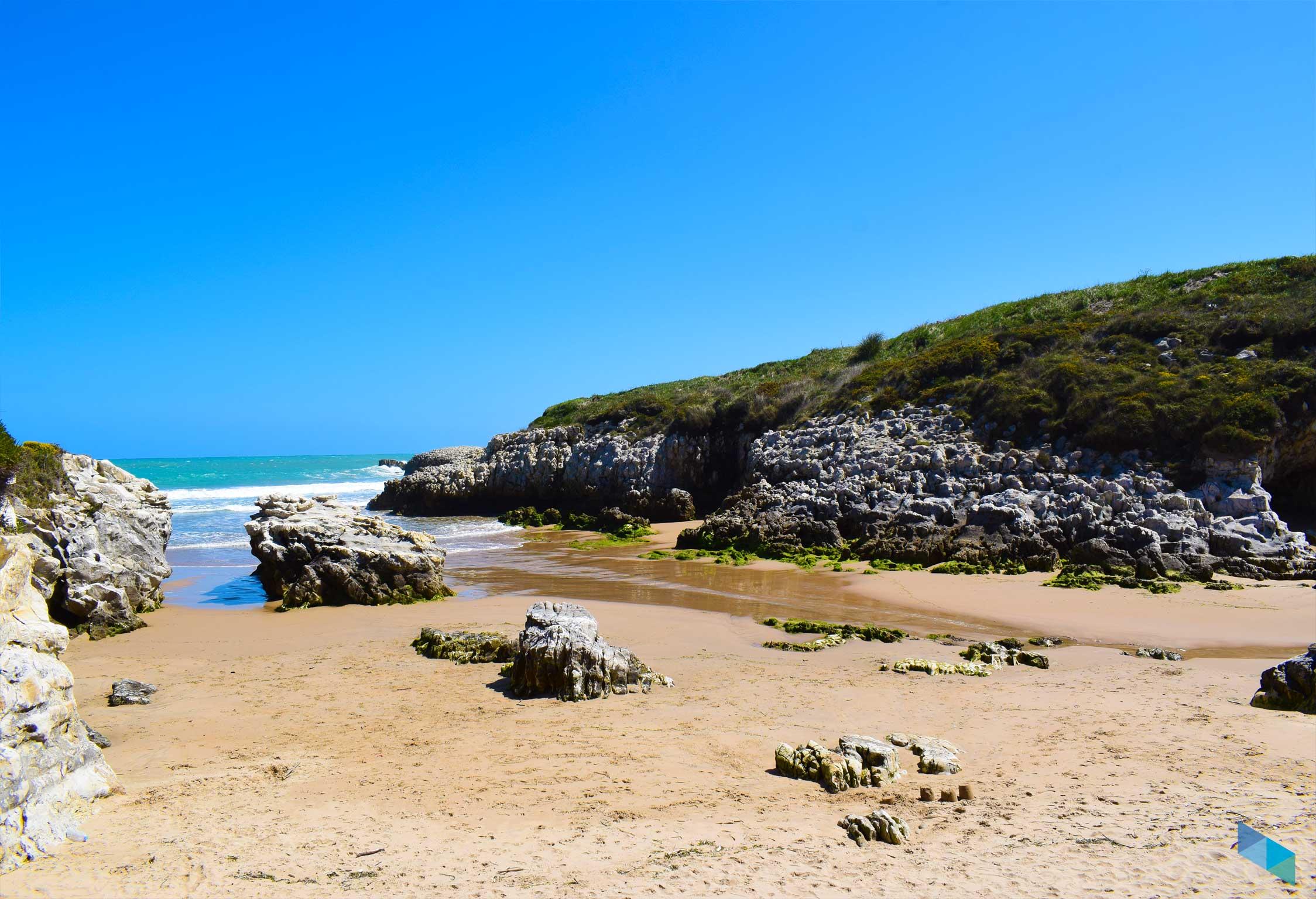 Playa de la Virgen del Mar marea super baja