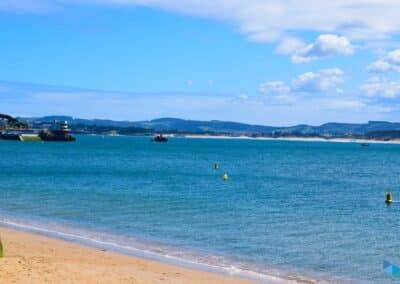 Vistas desde la Playa de los Peligros de Santander