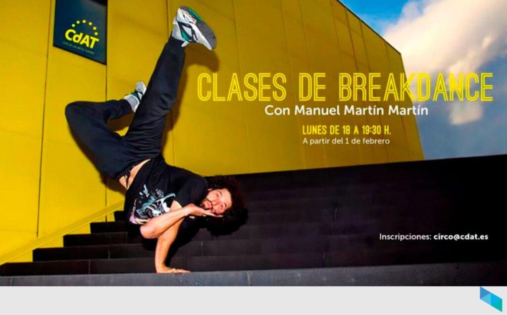 Clases de break dance con Manuel Martín