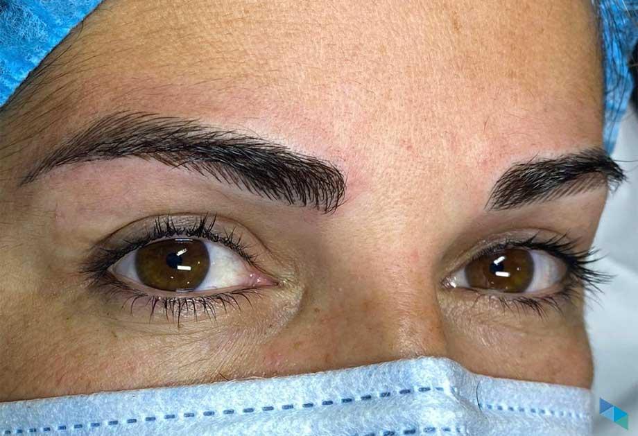Micropigmentación de cejas Karen clientes