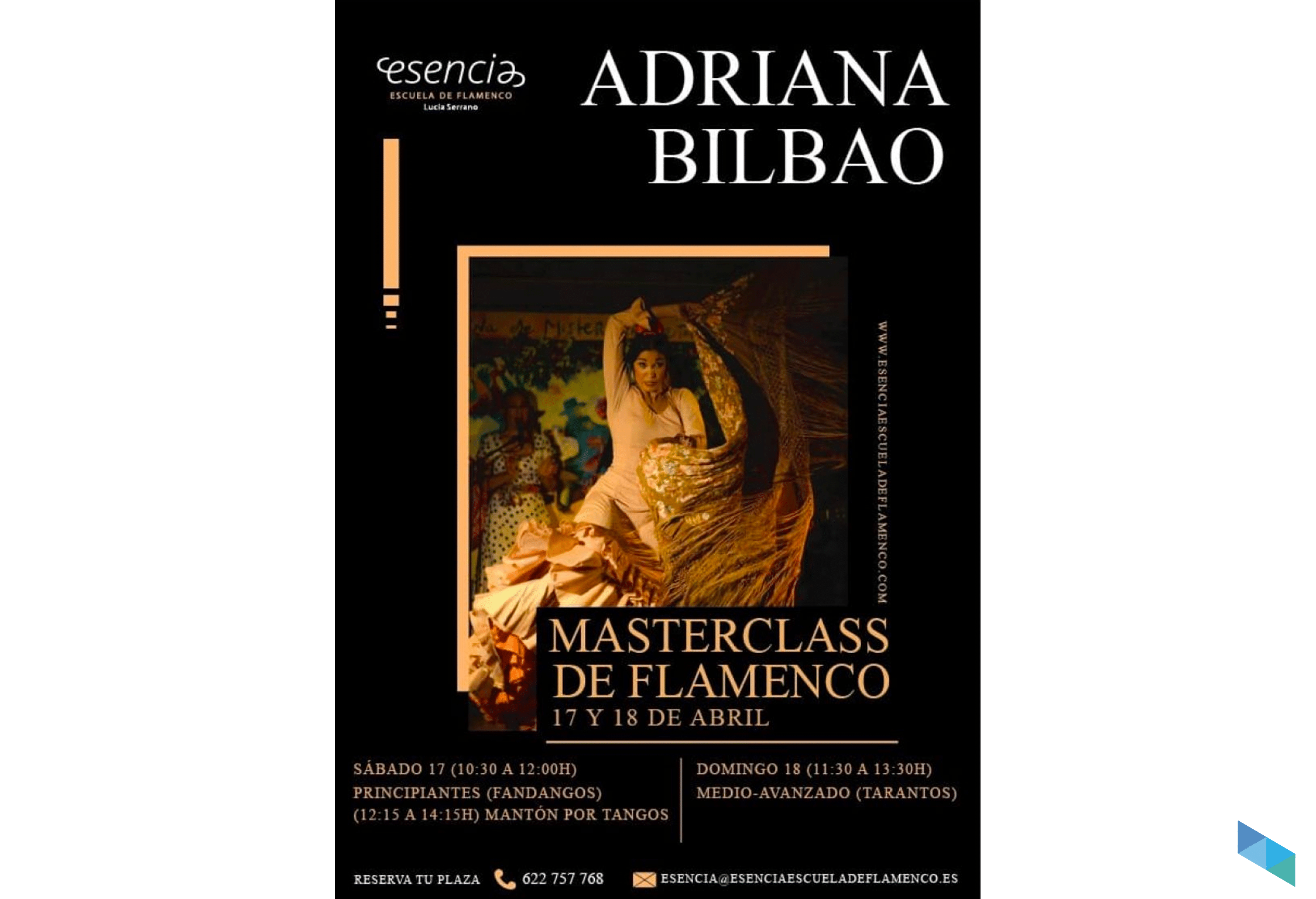 Master Class de flamenco con Adriana Bilbao