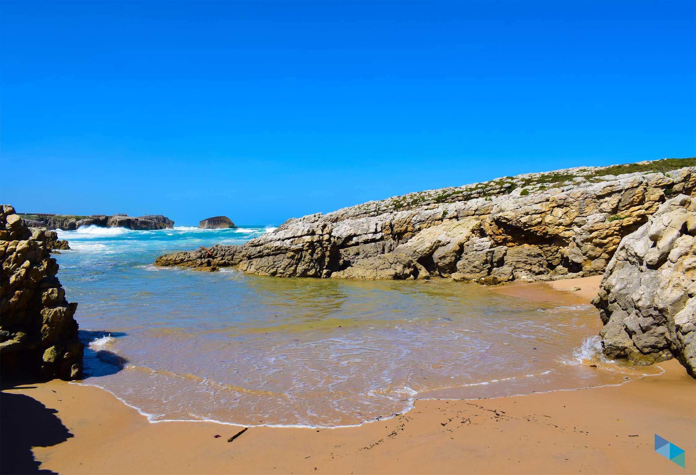 Playa del Bocal baja mar