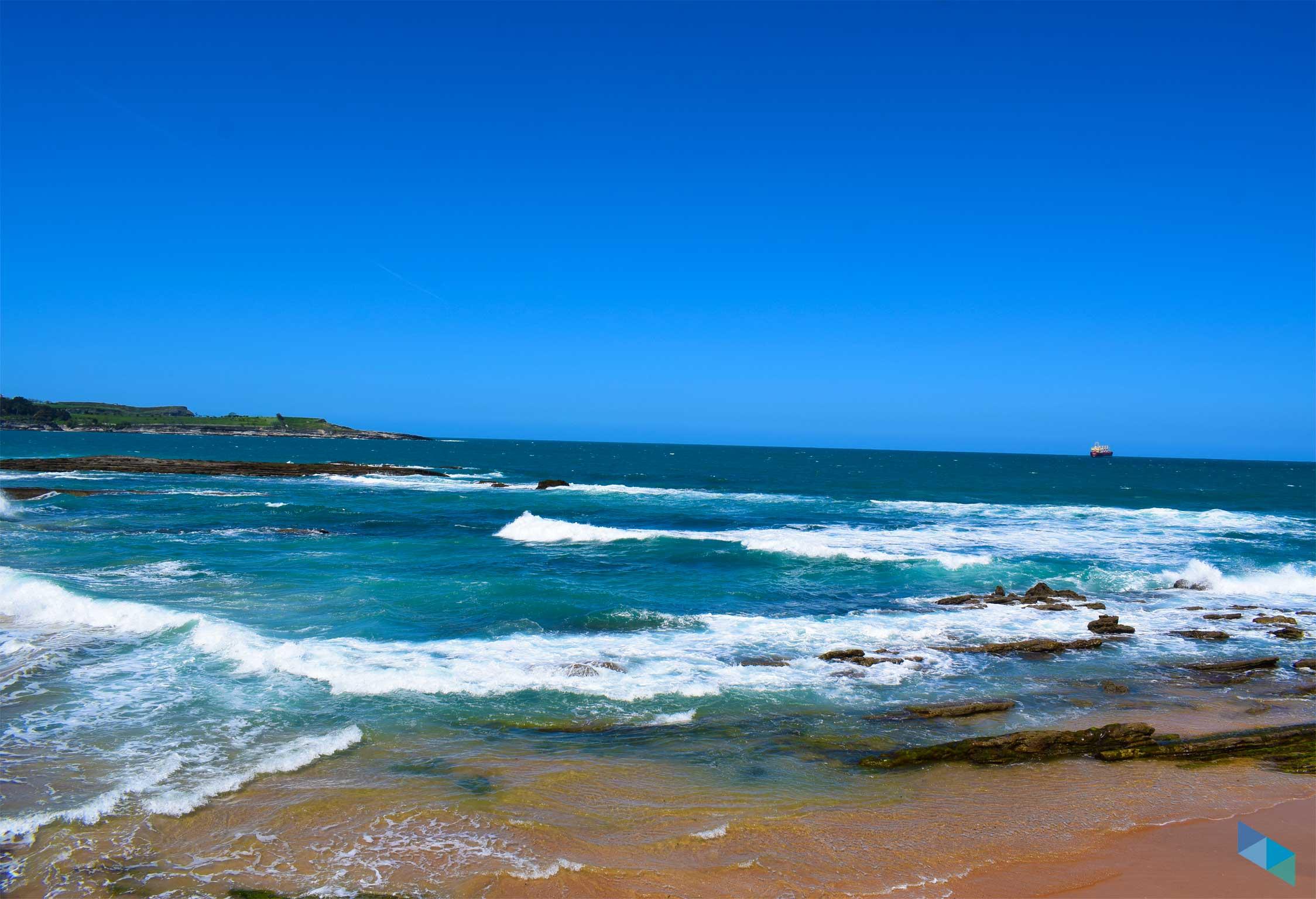 Playa de la Concha marea muy alta