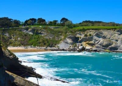 Playa de Mataleñas desde lejos