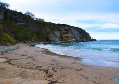 Playa de Mataleñas despejada