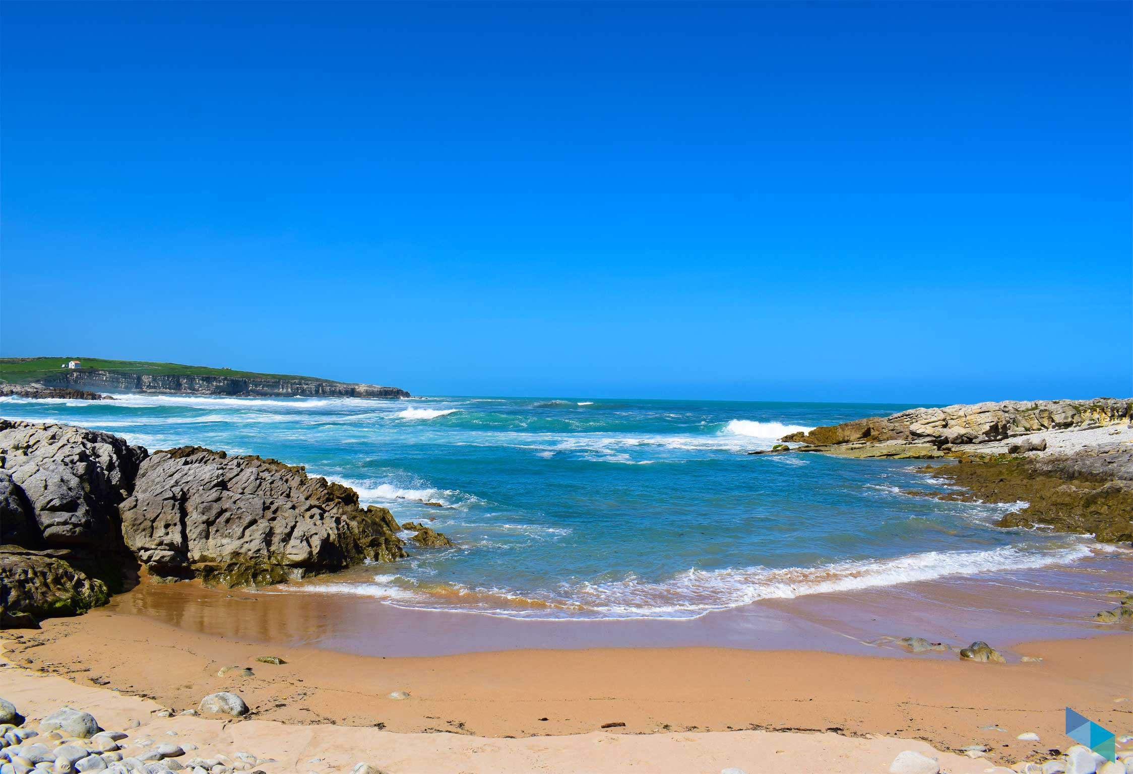Playa de Rosamunda baja mar