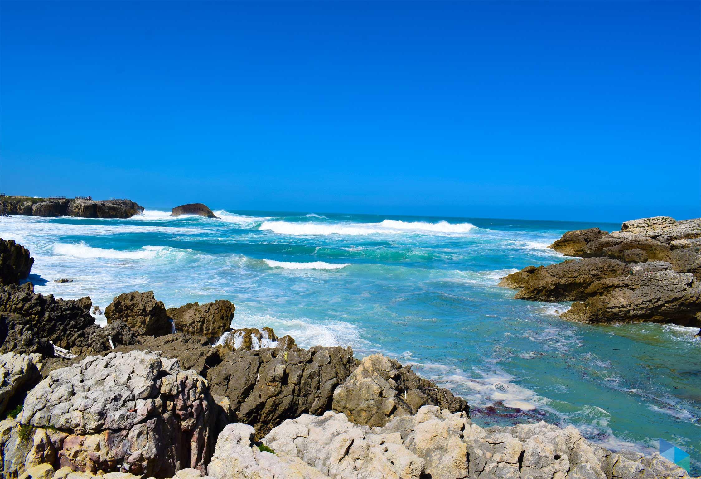 Playa del Bocal oleaje