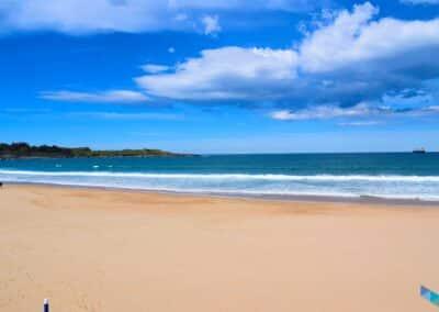 Primera Playa del Sardinero mar a dentro