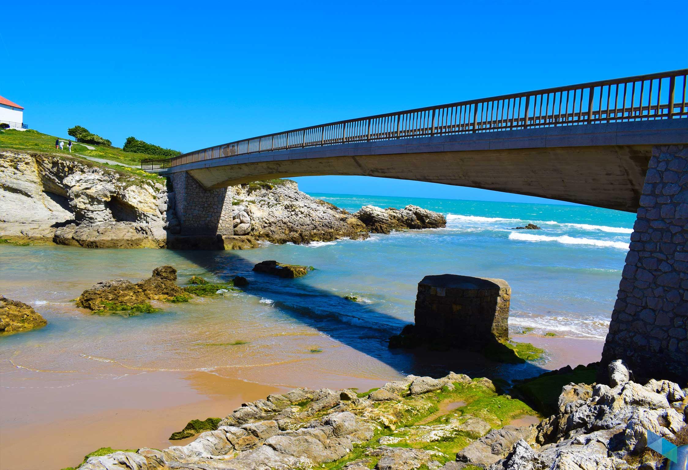 Playa de la Virgen del Mar puente