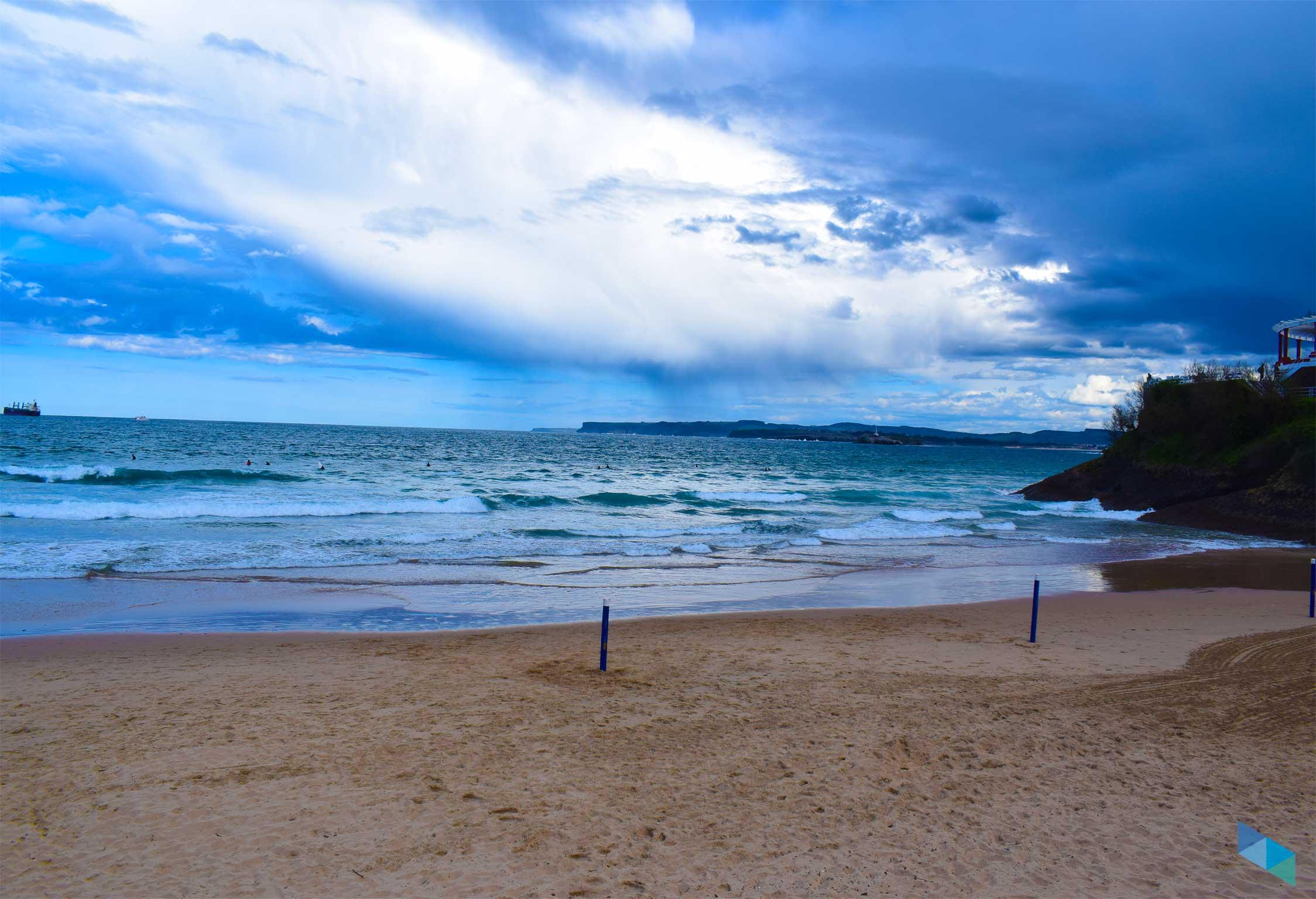 Segunda playa del Sardinero hacia los Jardines de Piquio