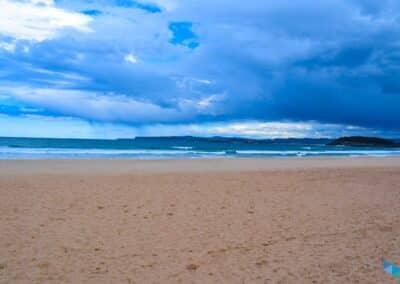 Segunda playa del Sardinero nublandose