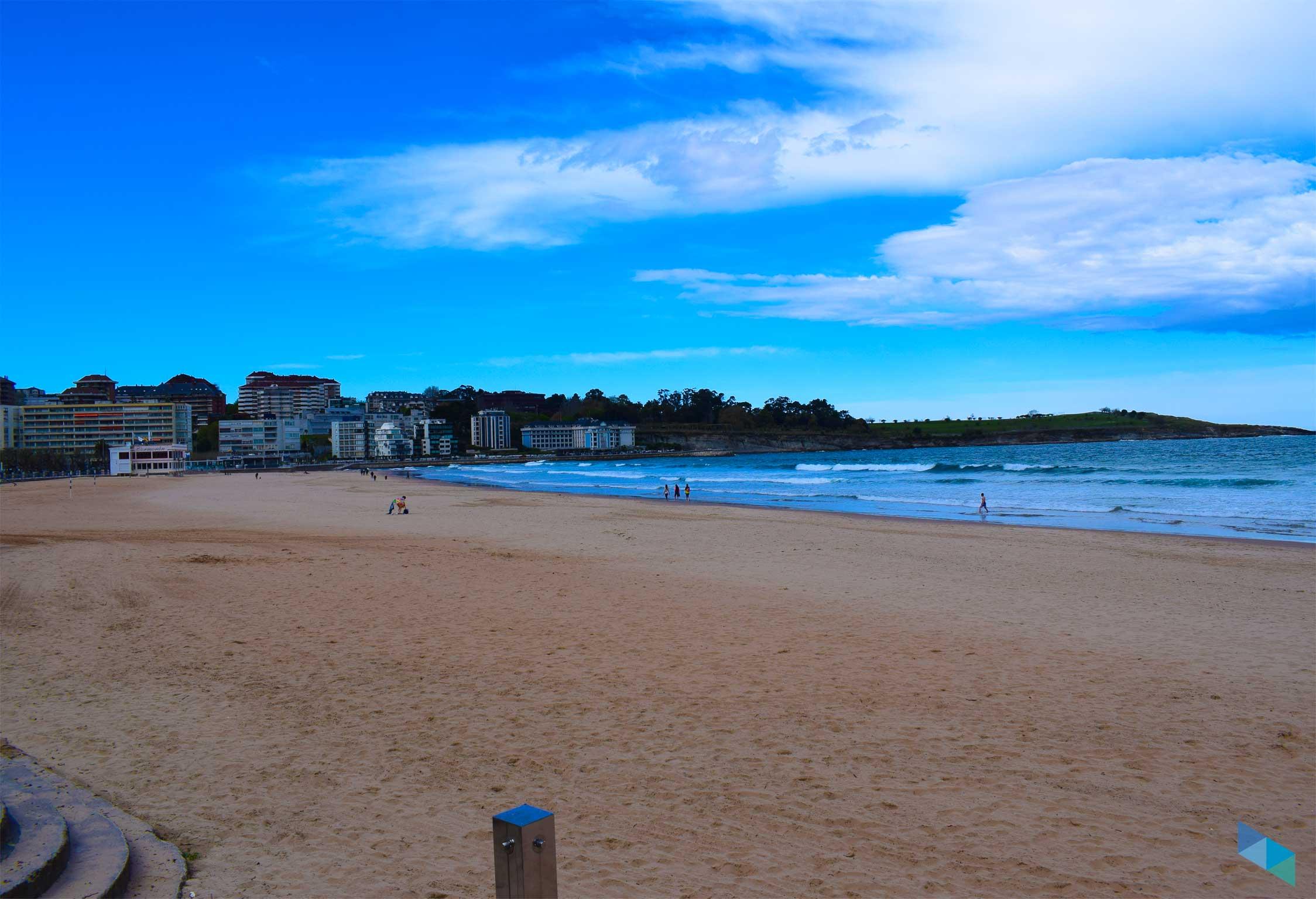 Segunda playa del Sardinero panoramica