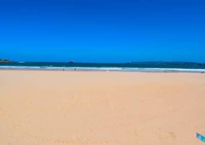 Segunda playa del Sardinero totalmente despejada