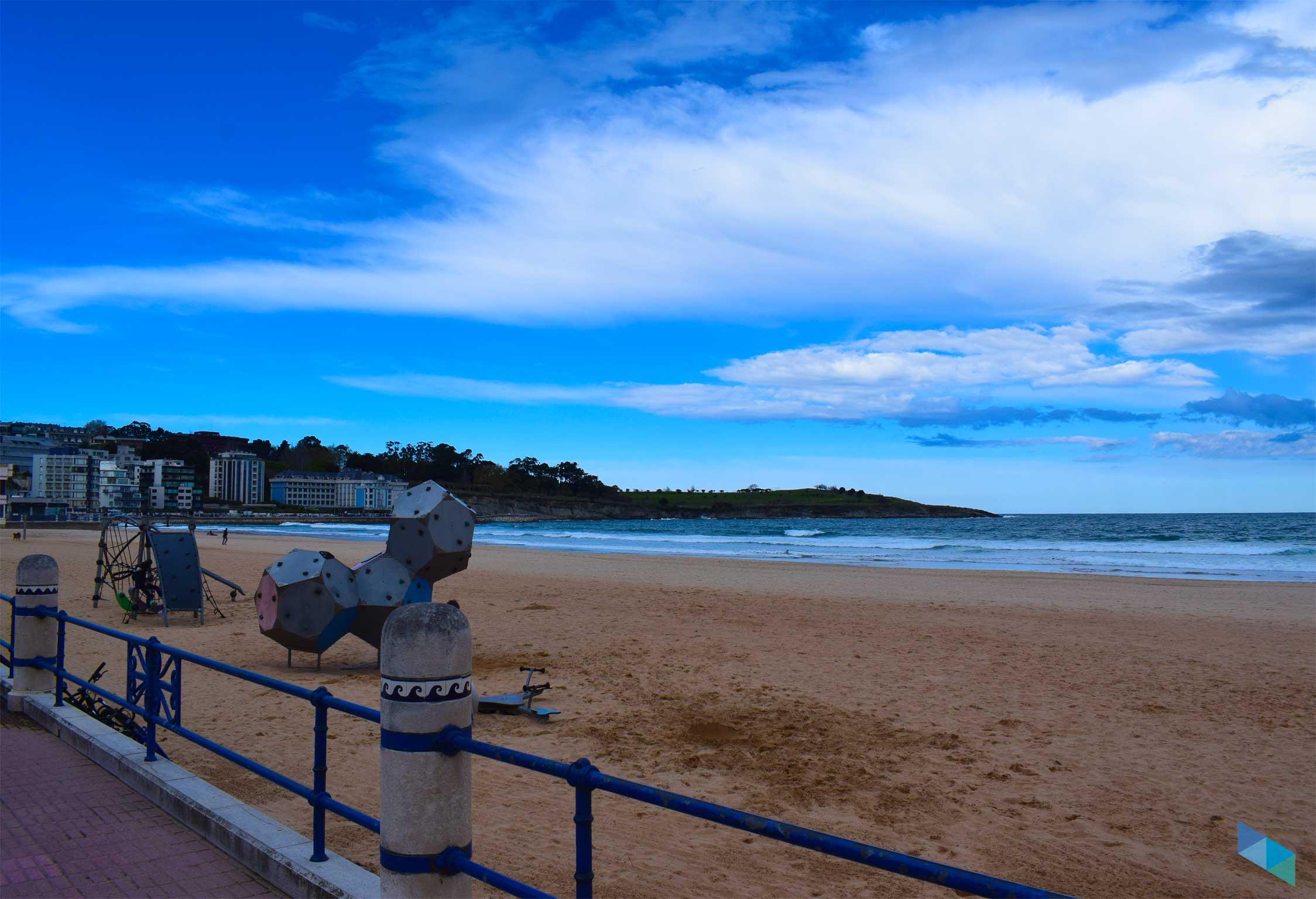Segunda playa del Sardinero zona de niños